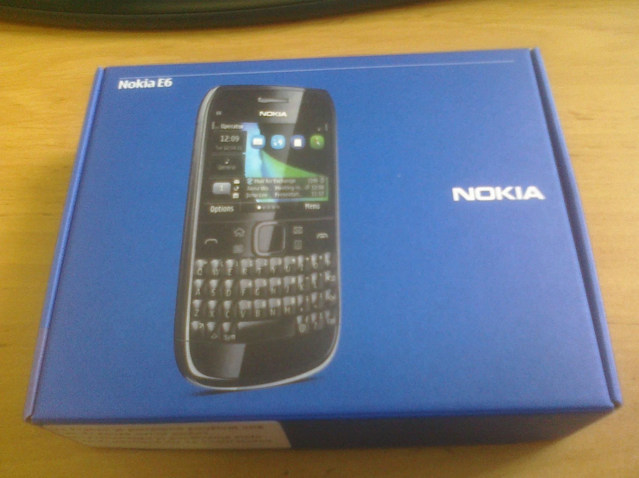 Nokia E6 balení